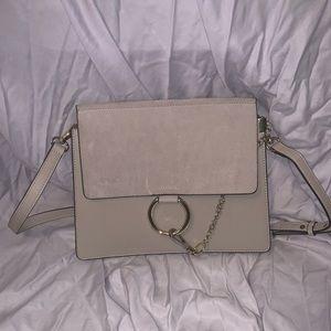 Genuine leather crossbody purse